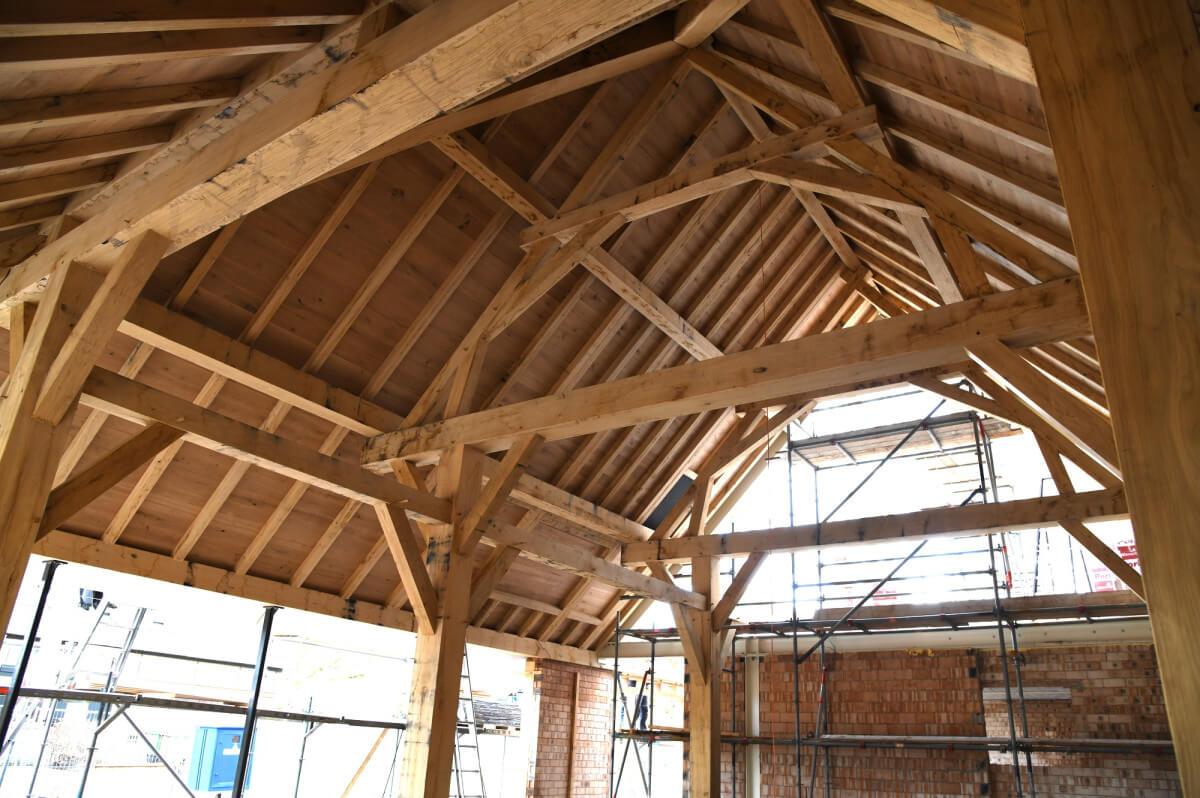 3e fotoserie bouw Vlaamse schuur bij Landgoed Nuwenhuys